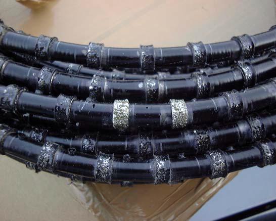 стальной канат с алмазными вставками
