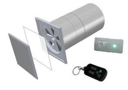 Энергосберегающий приточно-вытяжной  прибор УВРК-50